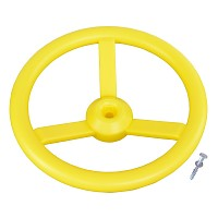 Steering wheel for play tower yellow Steering wheel climbing tower tree house children handlebar 31 cm