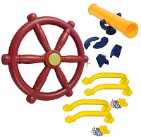 Accessory set for play tower Steering wheel Telescope 4 handles Economy set Accessory set