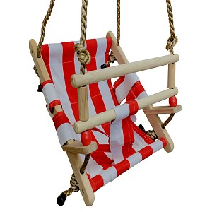 Baby swing seat - red / white