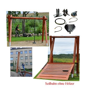 Playground Zip Line Kit 51m