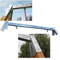 Steel Ridgepole for Wooden Swing Frames