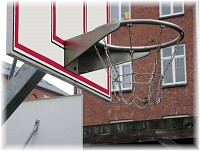 Stainless steel basketball hoop with chain net
