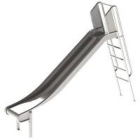 Stainless steel slide with ladder 1 m high slide ladder slide