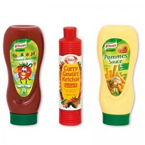 Tanner - Knorr- und Hela-Ketchup und Knorr Pommes Sauce
