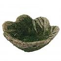 green Easter basket 19 cm Easter basket made of moss