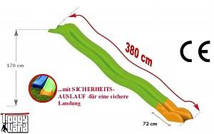 Hangrutsche Podesthöhe 1,70m - 3,80m Rutschenlänge