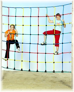 Climbing net 1.50x2.00m MW 25cm, rope 16mm climbing rope net rope ladder
