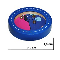 Labyrinth Delphin Kugelspiel Geduldsspiel Minikugelspiel Geschicklichkeitsspiel