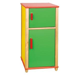 kitchen wood fridge