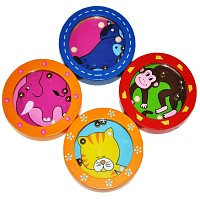 Puzzle Mini Ball Game Labyrinth Skill Game Set 4 pieces different