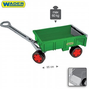 Handcart Green Wader Trailer for Giant Truck Tractor Trailer Kids Toys