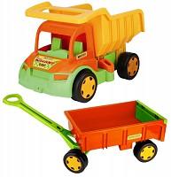 Wader XXL Truck Gigant mit Anhänger / Handwagen Set