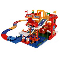 Wader - Auto Parkgarage Spielstraße Parkhaus mit Aufzug 3 Ebenen Spielzeugauto