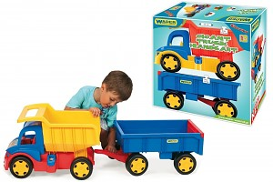 Wader XXL Truck Gigant with trailer / handcart set