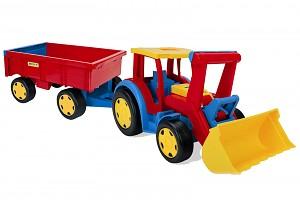 Wader XXL Traktor Gigant mit Anhänger / Handwagen Set