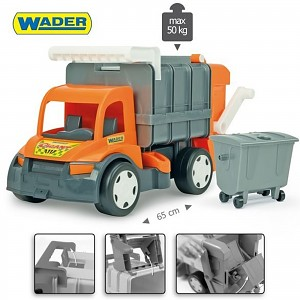 WADER GIGANT 62cm Garbage Truck Garbage Truck Kids Toy Cars Truck