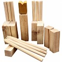 Kubb Game Throwing Game Lawn Chess Viking Game Toy Outdoor Chess Wood
