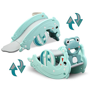2in1 dolphin slide / frog seesaw - turquoise
