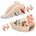 2in1 dolphin slide / frog seesaw - apricot