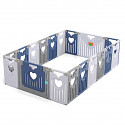 Playpen MAGNUS - blue / gray / white