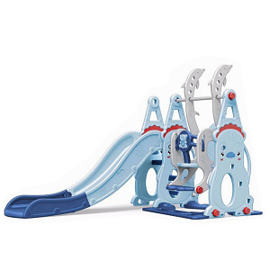 XL toddler combination with swing and slide - blue