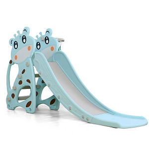 Children's slide cow - blue