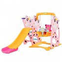 Toddler Combination with Swing and Slide Cow - pink