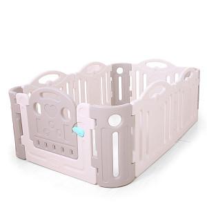 Playpen made of plastic - gray / white