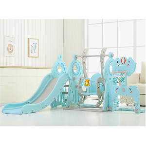 XXL toddler combination with swing, goal, basket and slide - blue
