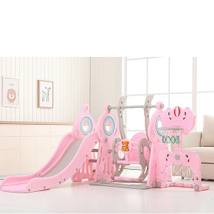 XXL toddler combination with swing, goal, basket and slide - pink