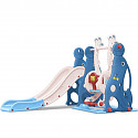 Toddler combination with swing and slide seal - blue