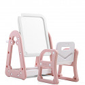 Combination set - table / table and chair - pink