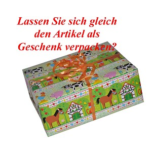 Gift service Children's paper, animal motifs, gift wrapping