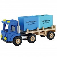 Lorry with 2 containers