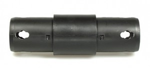 Moveandstic 2 way straight connector, black